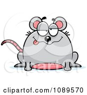 Clipart Chubby Drunk Mouse Royalty Free Vector Illustration