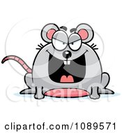 Clipart Chubby Evil Mouse Royalty Free Vector Illustration