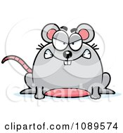 Clipart Chubby Mad Mouse Royalty Free Vector Illustration