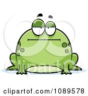 Clipart Chubby Bored Frog Royalty Free Vector Illustration