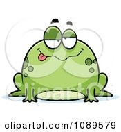 Clipart Chubby Drunk Frog Royalty Free Vector Illustration by Cory Thoman