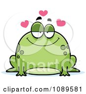 Clipart Chubby Infatuated Frog Royalty Free Vector Illustration