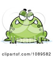 Clipart Chubby Mad Frog Royalty Free Vector Illustration