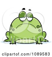 Clipart Chubby Sad Frog Royalty Free Vector Illustration by Cory Thoman
