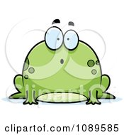 Clipart Chubby Surprised Frog Royalty Free Vector Illustration by Cory Thoman