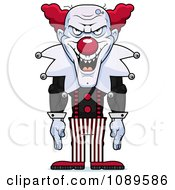 Clipart Demonic Clown Laughing Royalty Free Vector Illustration