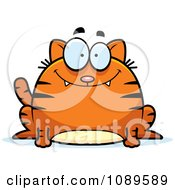 Clipart Chubby Smiling Orange Tabby Cat Royalty Free Vector Illustration by Cory Thoman
