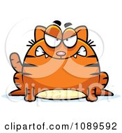 Clipart Chubby Mad Orange Tabby Cat Royalty Free Vector Illustration