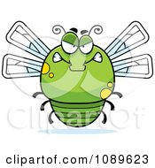 Clipart Chubby Mad Green Dragonfly Royalty Free Vector Illustration by Cory Thoman