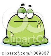 Clipart Pudgy Bored Green Blob Royalty Free Vector Illustration by Cory Thoman