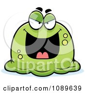 Clipart Pudgy Evil Green Blob Royalty Free Vector Illustration by Cory Thoman