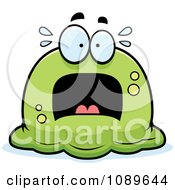 Clipart Pudgy Scared Green Blob Royalty Free Vector Illustration by Cory Thoman