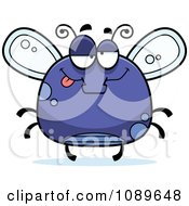 Clipart Chubby Drunk Purple Fly Royalty Free Vector Illustration