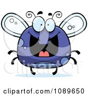 Clipart Chubby Grinning Purple Fly Royalty Free Vector Illustration by Cory Thoman