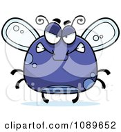 Clipart Chubby Mad Purple Fly Royalty Free Vector Illustration