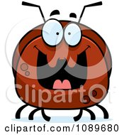 Clipart Pudgy Grinning Ant Royalty Free Vector Illustration by Cory Thoman