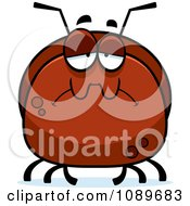 Clipart Pudgy Sad Ant Royalty Free Vector Illustration