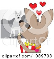 Clipart Chihuahua Dog Watching A Movie Royalty Free Vector Illustration