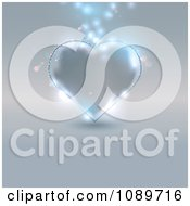 Clipart Silvery Glass Heart With Magic Lights Royalty Free Vector Illustration