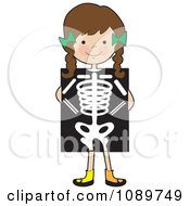Clipart Girl Standing Behind An Xray Royalty Free Vector Illustration