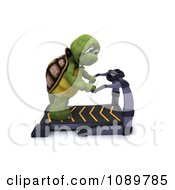 Clipart 3d Tired Tortoise Standing On A Treadmill Royalty Free CGI Illustration by KJ Pargeter