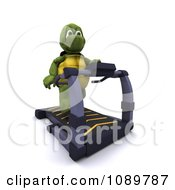 Clipart 3d Tortoise Exercising On A Treadmill Royalty Free CGI Illustration by KJ Pargeter