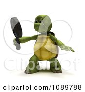 Clipart 3d Tortoise Looking Through A Magnifying Glass Royalty Free CGI Illustration