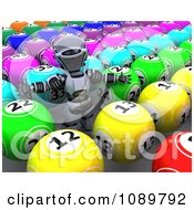 Clipart 3d Bingo Robot With Balls Royalty Free CGI Illustration by KJ Pargeter