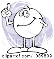 Clipart Moodie Character Counting Number 1 With His Finger Royalty Free Vector Illustration