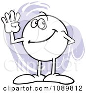 Clipart Moodie Character Counting Number 4 With His Fingers Royalty Free Vector Illustration