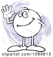 Clipart Moodie Character Counting Number 5 With His Fingers Royalty Free Vector Illustration