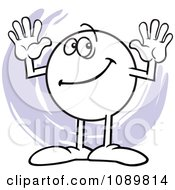 Clipart Moodie Character Counting Number 10 With His Fingers Royalty Free Vector Illustration