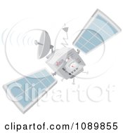 Clipart Communications Satellite Royalty Free Vector Illustration by Alex Bannykh