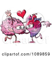 Clipart Human Heart Dancing With A Brain Royalty Free Vector Illustration