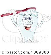 Dental Tooth Brushing His Head