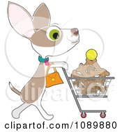 Clipart Chihuahua Grocery Shopping For Biscuits Royalty Free Vector Illustration by Maria Bell