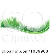 Clipart Green Grass Wave Royalty Free Vector Illustration