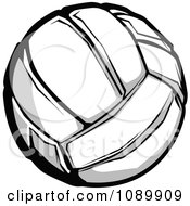 Clipart Grayscale Volleyball Royalty Free Vector Illustration by Chromaco