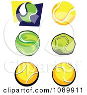 Clipart Tennis Ball Icons Royalty Free Vector Illustration by Chromaco