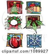 Clipart Christmas And Winter Icons Royalty Free Vector Illustration by Chromaco