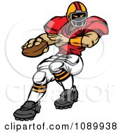 Clipart Football Player Quarterback Royalty Free Vector Illustration