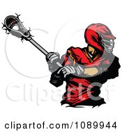 Clipart Lacrosse Player Swinging A Stick Royalty Free Vector Illustration