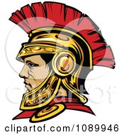 Clipart Roman Centurion Warrior With A Spartan Helmet Royalty Free Vector Illustration