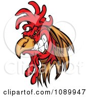 Clipart Tough Rooster Gritting His Teeth Royalty Free Vector Illustration