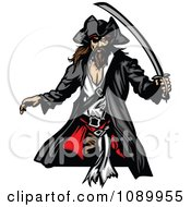 Clipart Pirate Armed With A Sword Royalty Free Vector Illustration