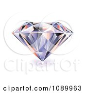 Clipart 3d Sparkly Diamond Royalty Free Vector Illustration by michaeltravers