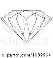 Clipart Outlined Diamond Royalty Free Vector Illustration