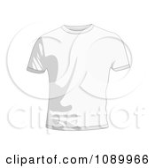 Clipart White Mens T Shirt Royalty Free Vector Illustration by michaeltravers