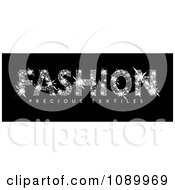 Clipart Fashion Spelled With Diamonds Royalty Free Vector Illustration by michaeltravers