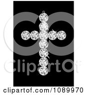 Clipart 3d Diamond Cross Pendant Royalty Free Vector Illustration